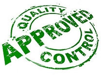 quality controlled approved badge