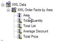 cognos impromptu xml data list