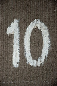 painted number 10 to represent Cognos 10