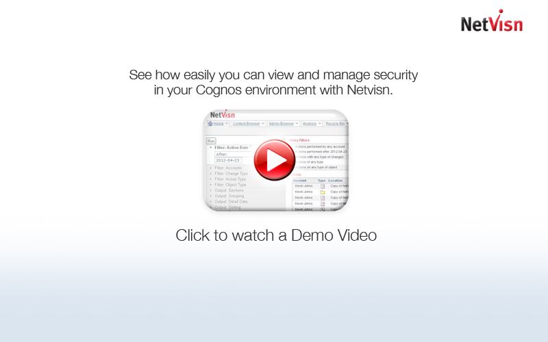 cognos security demo video