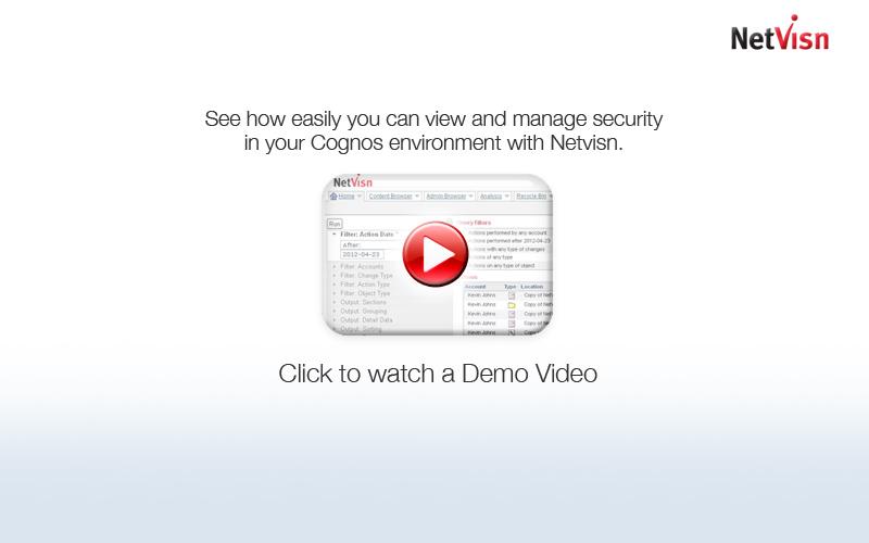 cognos security demo video