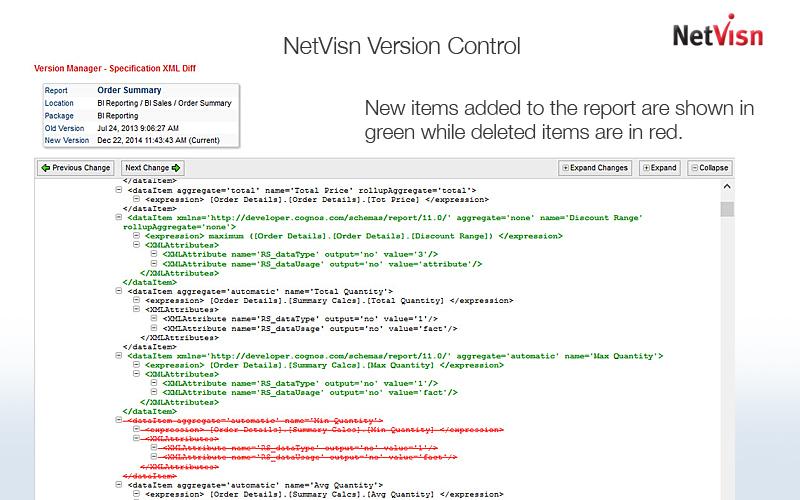 version control with netvsin