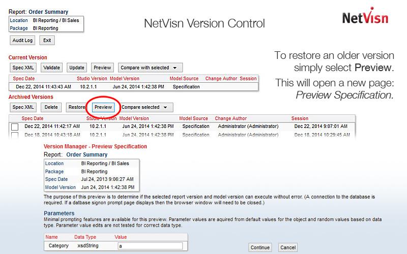 netvisn versioning