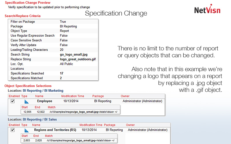 model item change in netvisn