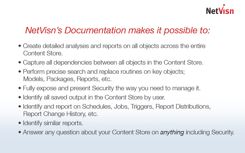 netvisn report documentation summary