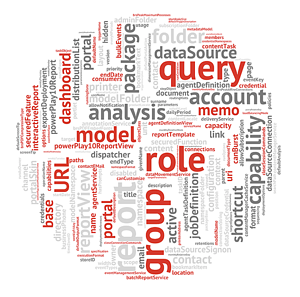 cognos group role query model analysis