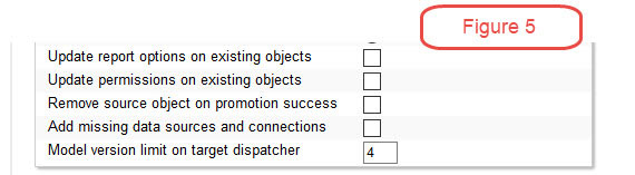 cognos options and permissions
