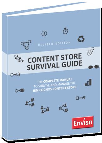 cognos content store survival guide