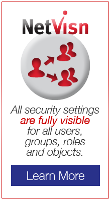 All security settings are fully visible for all users, groups, roles, and objects in Netvisn - learn more
