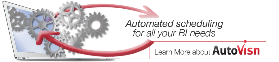automated scheduling for all your BI needs - learn more about autovisn