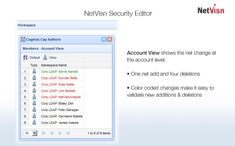 netvisn security account view