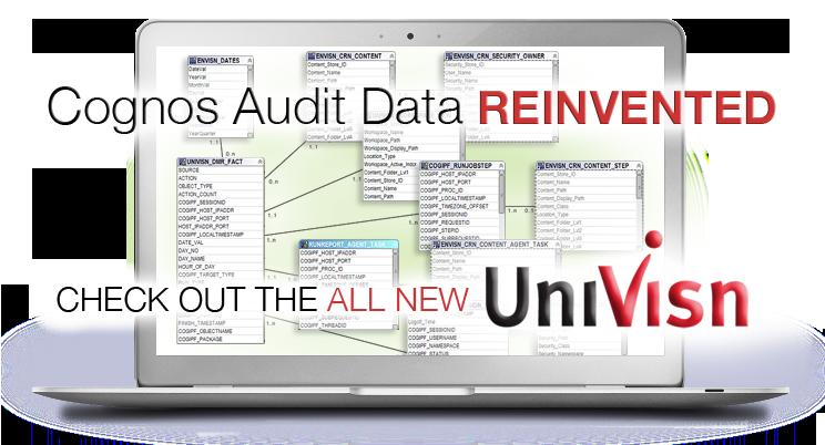 cognos audit data managed with univisn